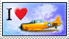 I love airplanes stamp by Star-buckDevstamps