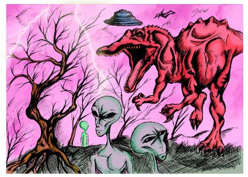 Dinosaur vs Alien
