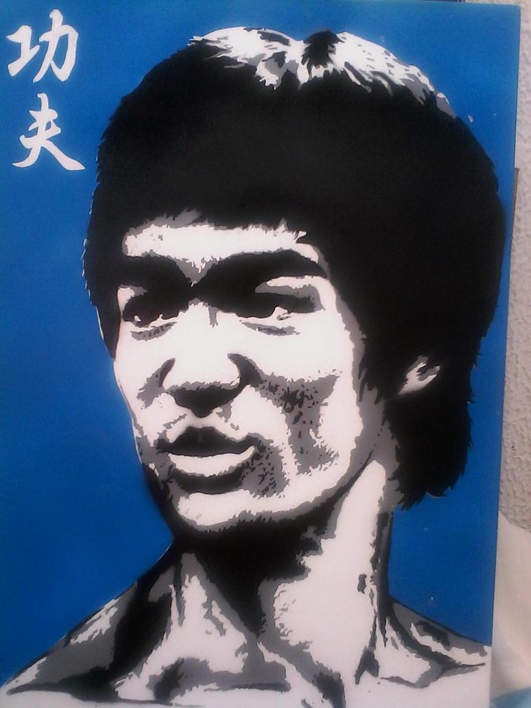 Bruce slee stencil by oscar by oscar1987zp