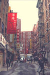 Drizzling in China Town