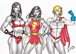 Carlos - Big Barda, Mary Marvel, and Power Girl