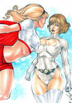 Power Girl, Supergirl - by Jeferson Lima by Augen76