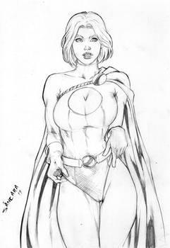 Power Girl art by Sancara