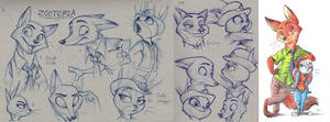 Mini Sketch Dump - Zootopia
