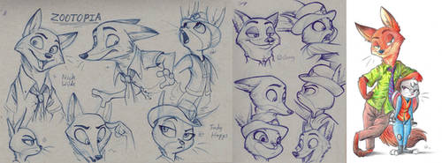 Mini Sketch Dump - Zootopia by MalimarTheMage