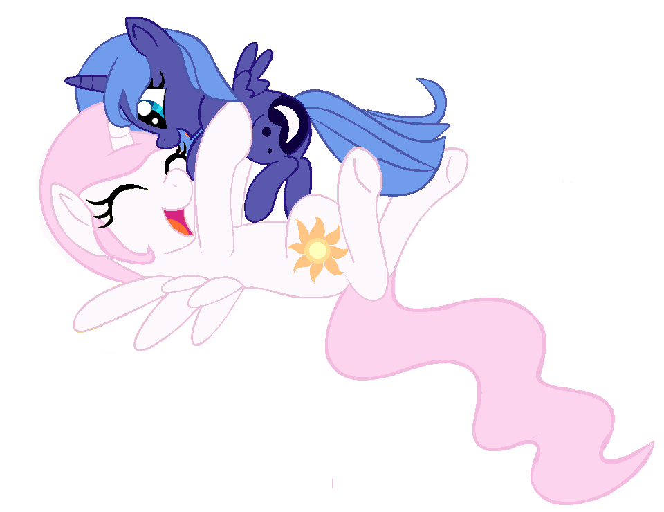 mlp_young_celestia_and_luna_by_scooterlo