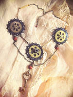 Clockpunk necklace 5 by Verope