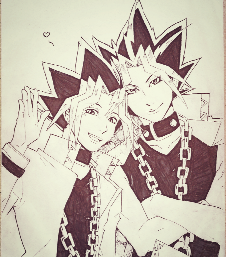 Yugi and Yami by ivegotajarofdiirt