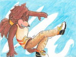 Dancing Hawk by CharleetheCat-Bat