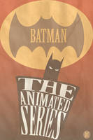 Vintage Batman TAS Poster by WolfTron