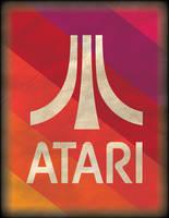 Retro Atari Poster by WolfTron