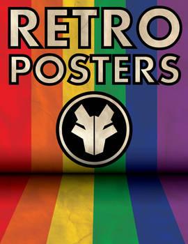 Retro WolfTron Poster (Rainbow)