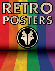 Retro WolfTron Poster (Rainbow) by WolfTron