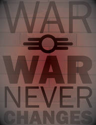 War Never Changes (on brick)