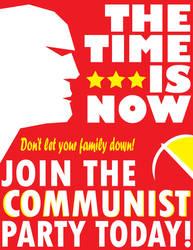 Red Propaganda Poster