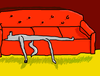 WolfTron sleeping on the couch by WolfTron