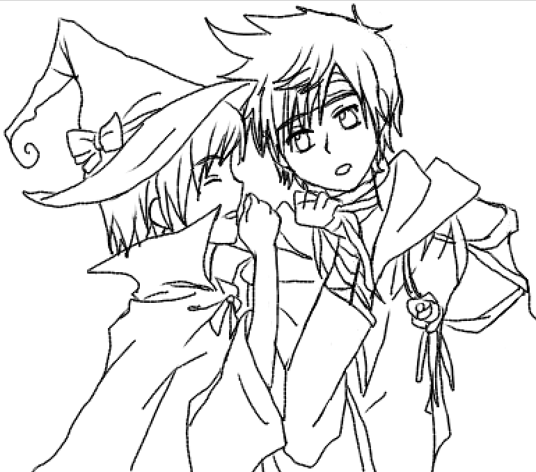 Roxas and Xion sketch by sayaka-miamoto