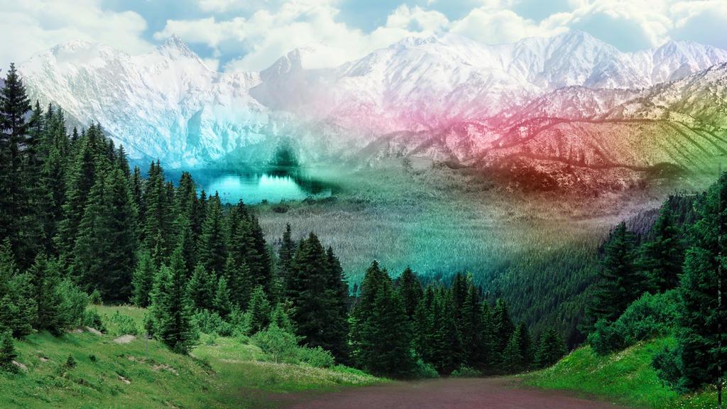 Photomanipulation - Rainbow Valley by Daz-Keaty