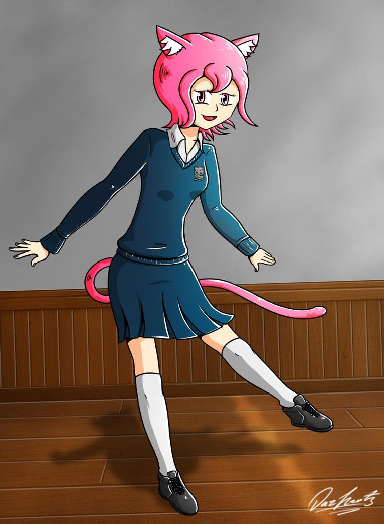 Mana in her school uniform by Daz-Keaty