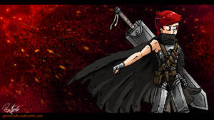 Gamer Cafe Wallpaper - Warren's Berserk Costume by Daz-Keaty