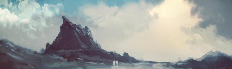 Landscape Rocky 1 by daGohs