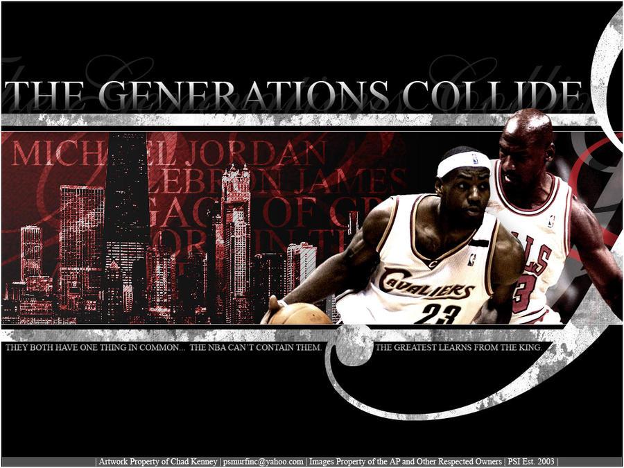 Lebron James Vs Michael Jordan Wallpaper By Xgojirax On Deviantart