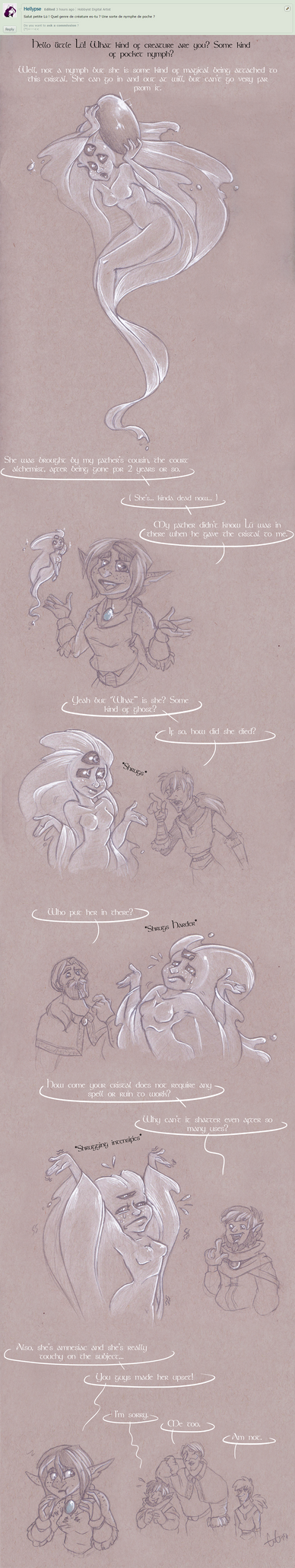 Ask My Ocs - The Mysterious Lu by GreenOverGreen