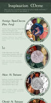 Characters Inspiration Meme by GreenVikeen
