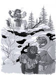 Inktober 11 - Snow