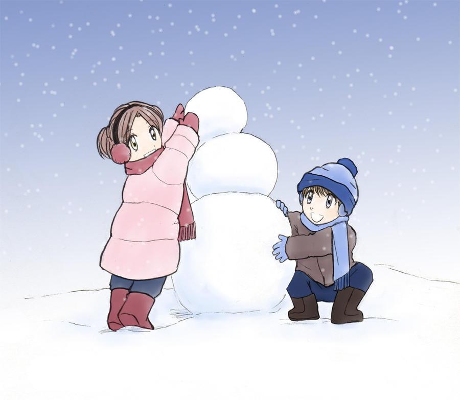Build a snowman by danabobana on deviantart for How to create a snowman