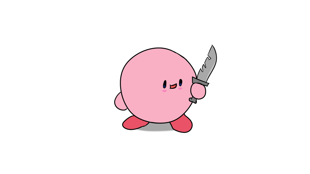 Kirby With A Knife By Nurakid436 On Deviantart Kirby with a knife refers to an image of a plush doll of the nintendo character kirby holding a knife. kirby with a knife by nurakid436 on