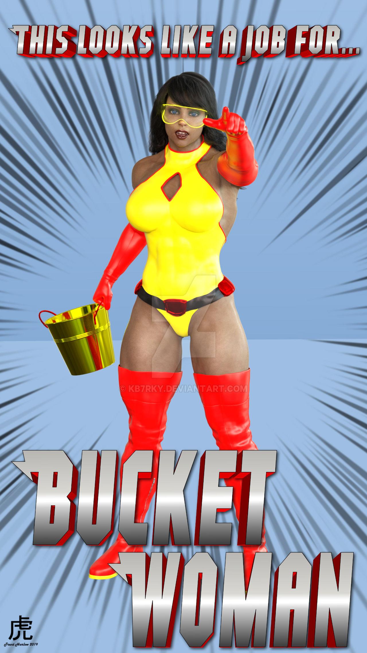 Meet the newest superheroine, Bucketwoman!