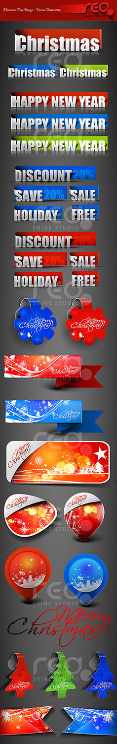 Christmas Decoration Element's by Redshinestudio