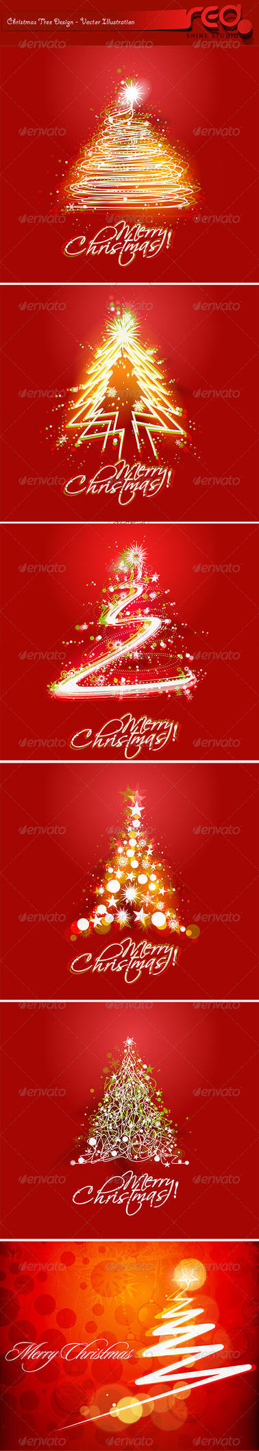 Christmas Tree Background's by Redshinestudio