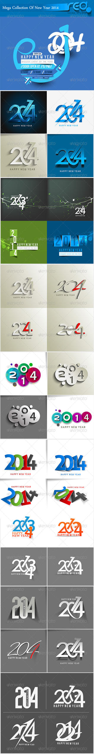 Happy New Year 2014 Background by Redshinestudio