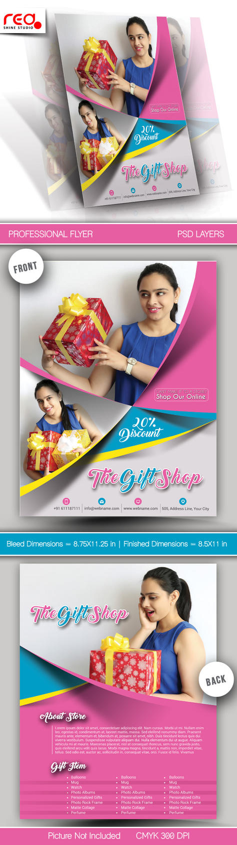 Gift Shop Flyer Poster Template by Redshinestudio