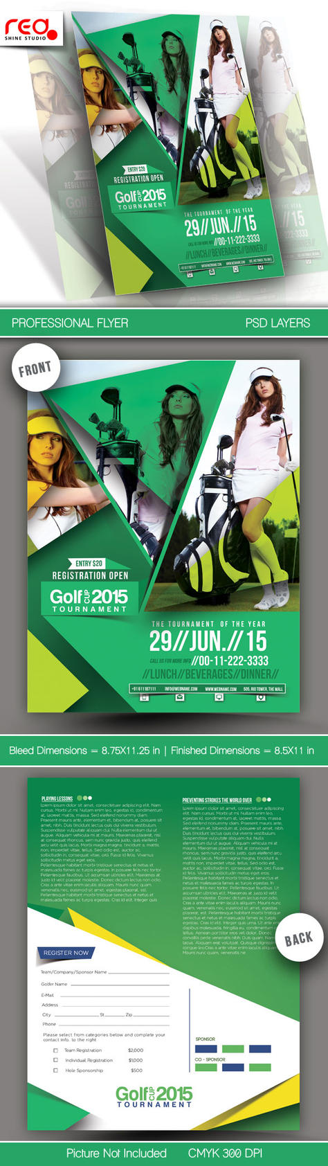 Golf Cup Tournament Flyer Template - 2 by Redshinestudio