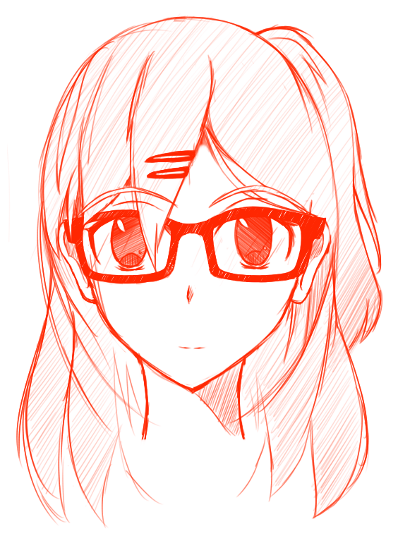 Quick Sketch -Girl With Glasses By BanabaBBQ On DeviantArt