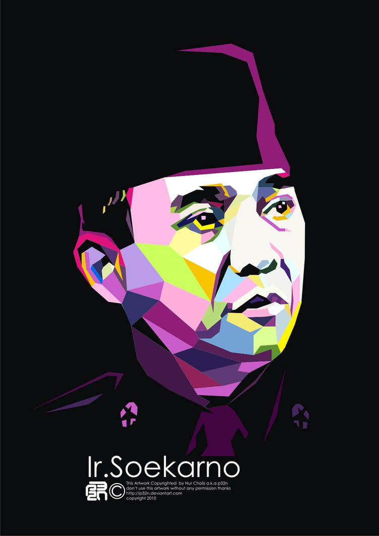 Ir Soekarno on WPAP by p32n