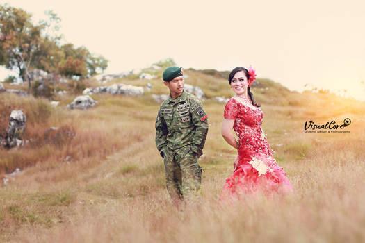 Foto Prewedding TNI bukit Jaddih by p32n