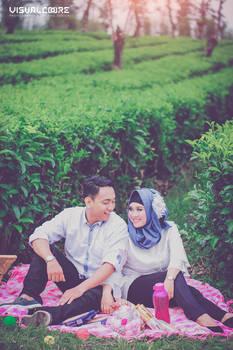 Prewedding Kebun Teh Tema piknik