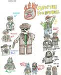 Lego Linkara and characters