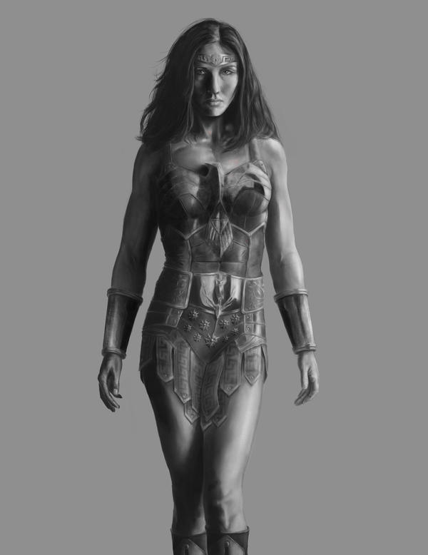 Airbrushed Wonder Woman by joshwmc