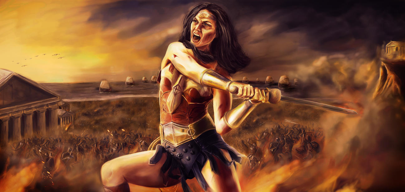 Themyscira Burns - WW concept by joshwmc