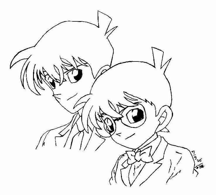 Detective conan by hermione72141 on deviantart for Detective conan coloring pages