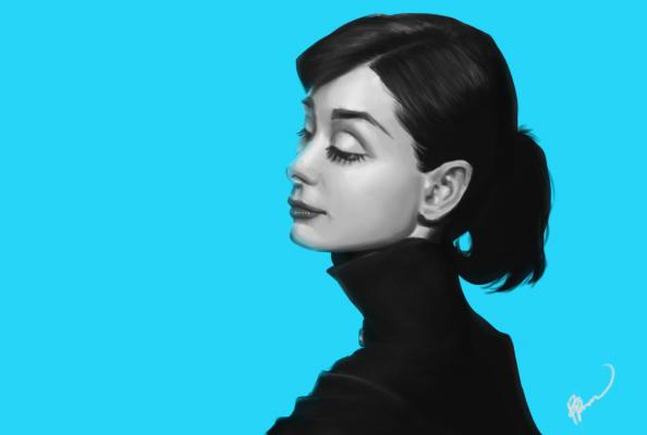 Audrey Hepburn by Perronegro300