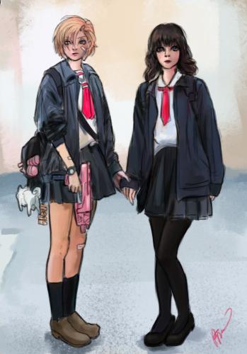 ILi and Yoko by Perronegro300
