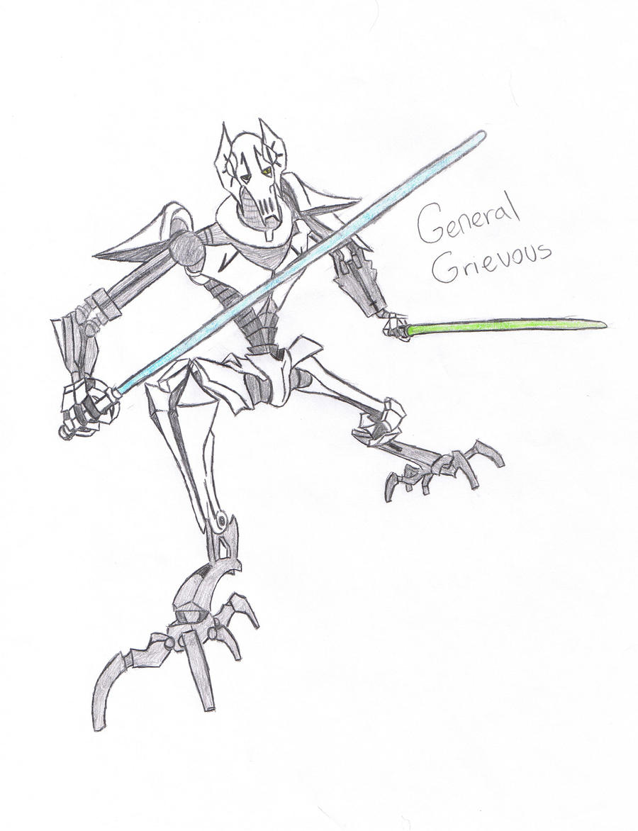 General Grievous 4 B3rryb4tty By Candykane409 On Deviantart General Grievous Coloring Page