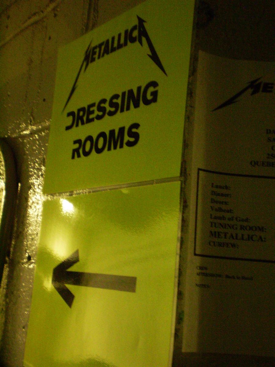 Metallica - Dressing Room