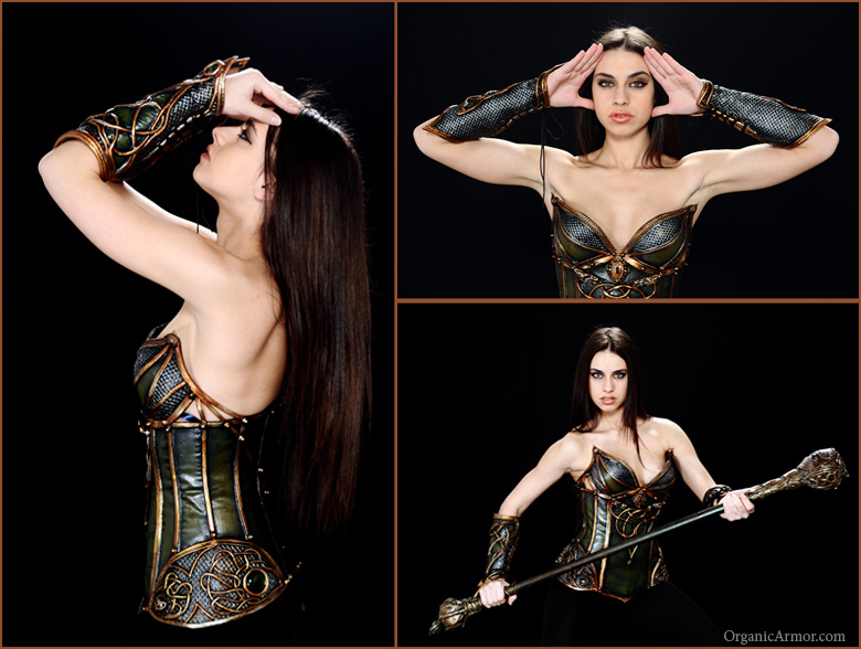 Loki Corset and Bracers by organicarmor